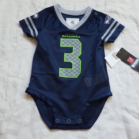 NFL Russell Wilson Baby Infant Bodysuit Jersey 3-6